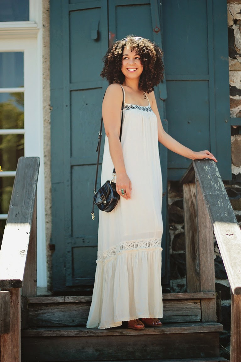 ralph lauren maxi dress, long dresses, summer outfits, natural hair bloggers