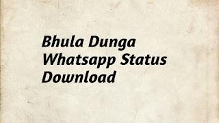 Bhula dunga whatsapp status