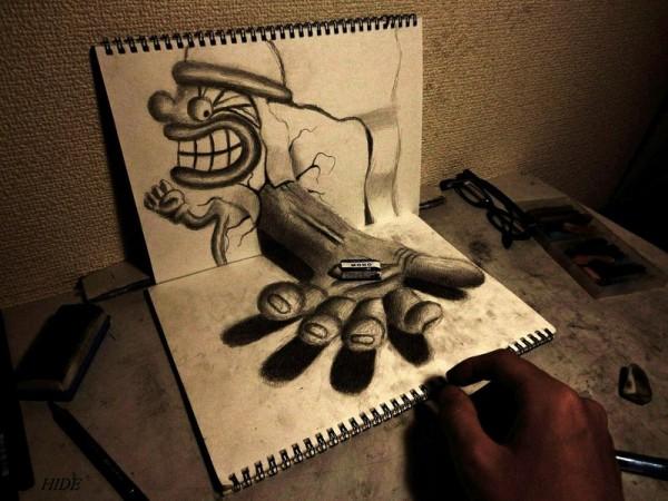 Gambar Sketsa 3 Dimensi Yang Kreatif Keren dan Juga Menakjubkan-8