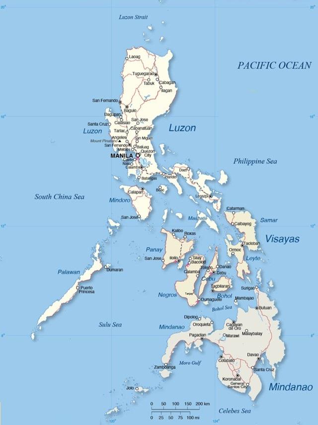 peta filipina lengkap dengan keterangan