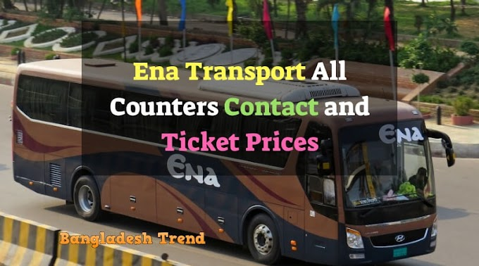 Ena Bus All Counters, Ticket Prices and Contacts