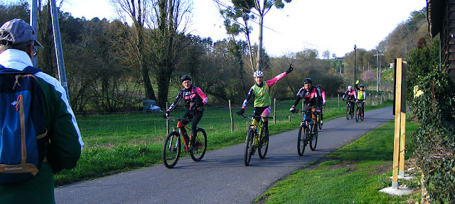 Cyclists out for a Sunday ride.  Indre et Loire, France. Photographed by Susan Walter. Tour the Loire Valley with a classic car and a private guide.