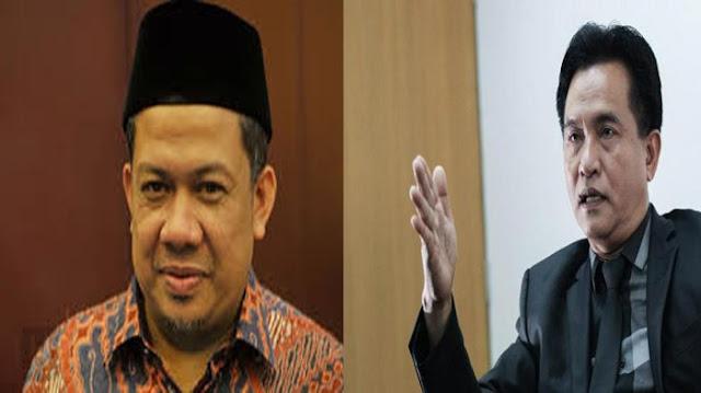 Fahri Hamzah Dukung Yusril Ihza Mahendra Lawan KPU