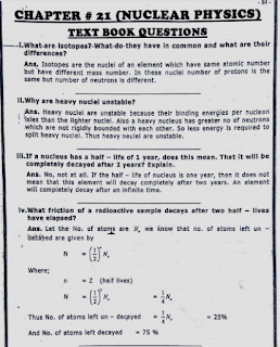 solved exercise,important short questions,punjab textbook questions,nuclear physics