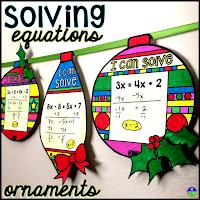 Solving equations ornaments