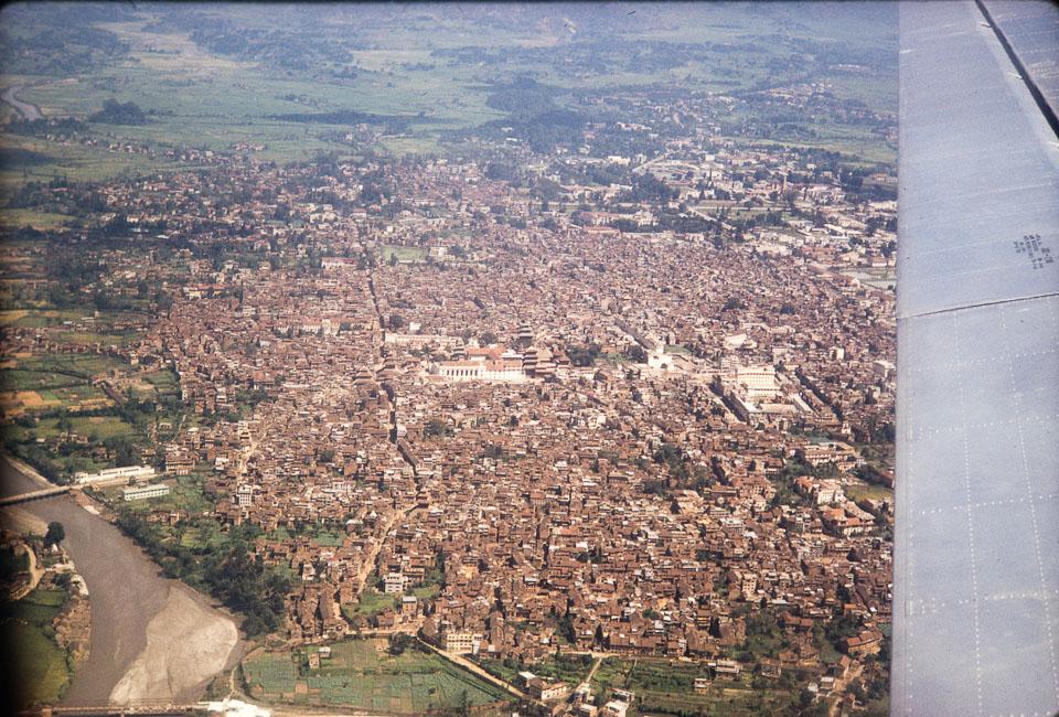 Old image of Kathmandu   Aerial view of kathmandu