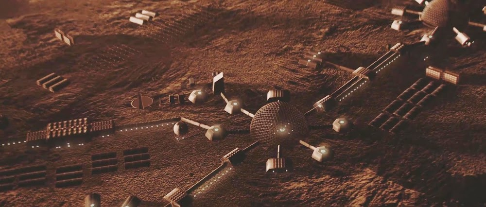 Mars colony domes in TerraGenesis game