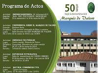 Programa de actos conmemorativos del 50 aniversario del CEIP Marqués de Valero