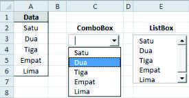 Perbedaan Listbox dan ComboBox