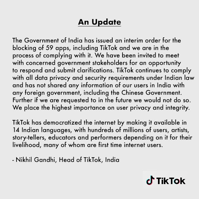 tik tok ban in india