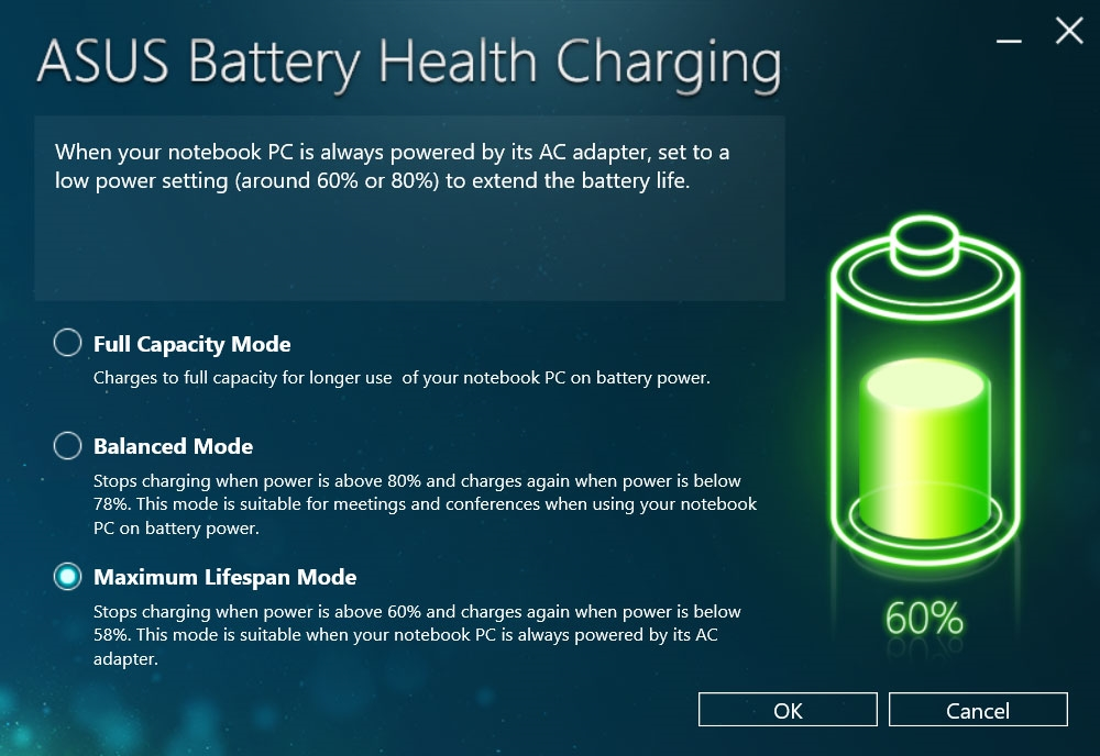 aplikasi Asus Battery Health Charging