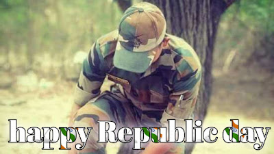 Republic day images with army Jawan
