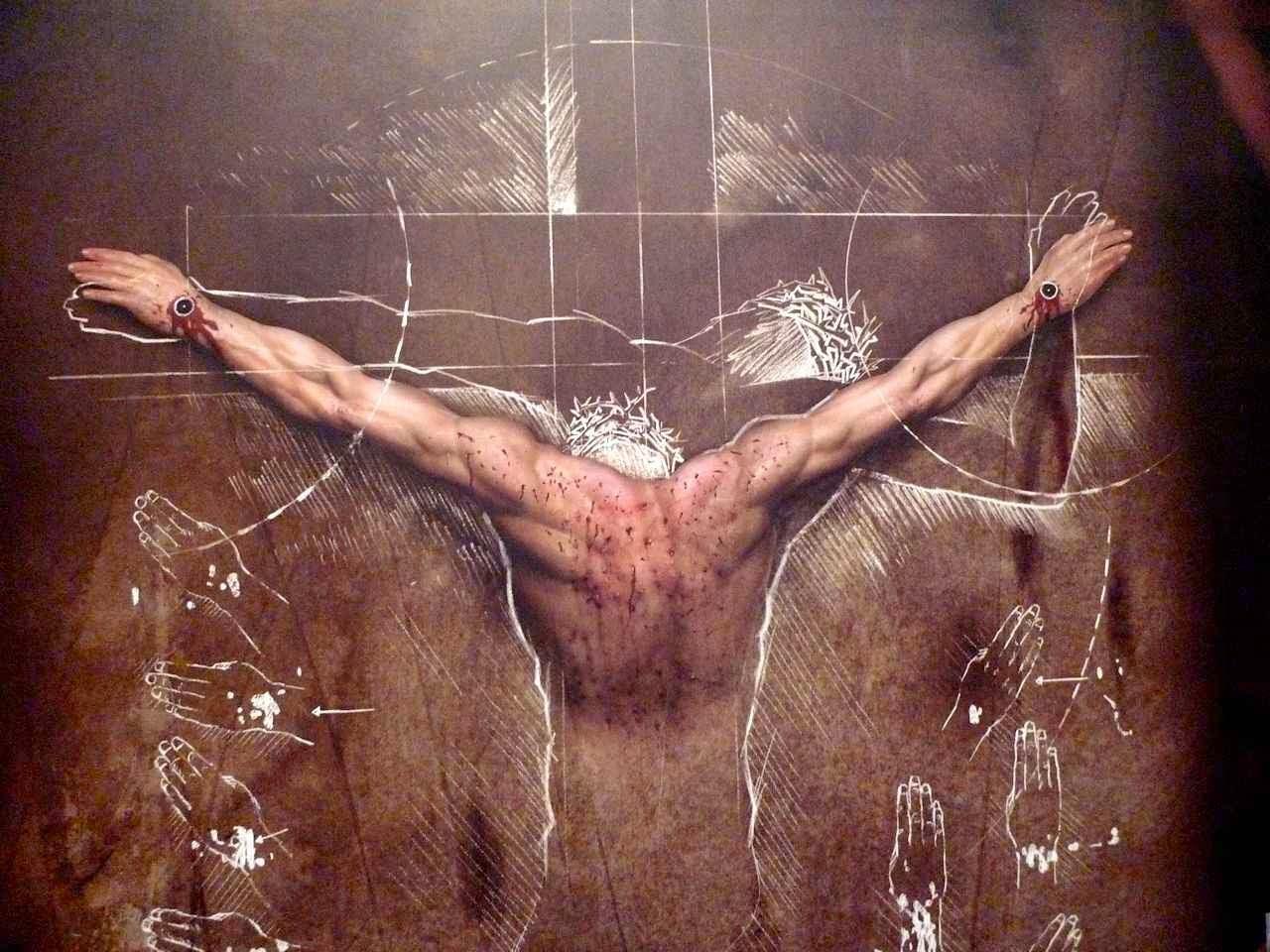 Para Schwortz é 'um documento da Paixão e da tortura que Jesus sofreu'. Foto da exposição 'O homem do Sudário', Curitiba