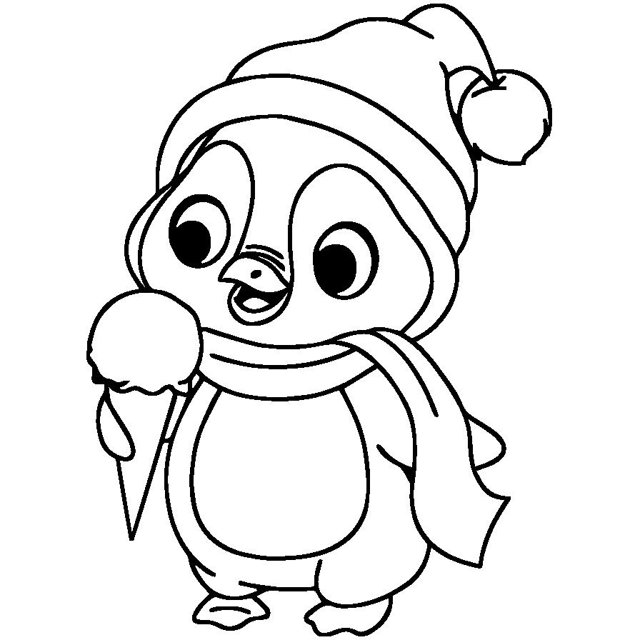 Mewarnai Gambar Hewan Penguin Aneka Mewarnai Gambar