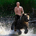 Vladímir Putin y la historia detrás de su foto montando un oso