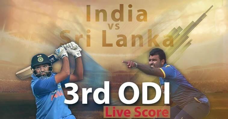 Live Cricket Score, India vs Sri Lanka, 3rd ODI