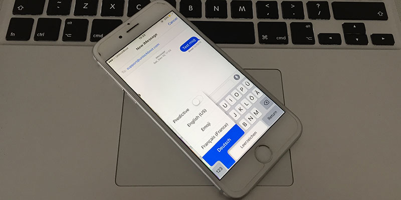 change keyboard language on iphone