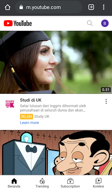 putar youtube di latar belakang tanpa akun premium