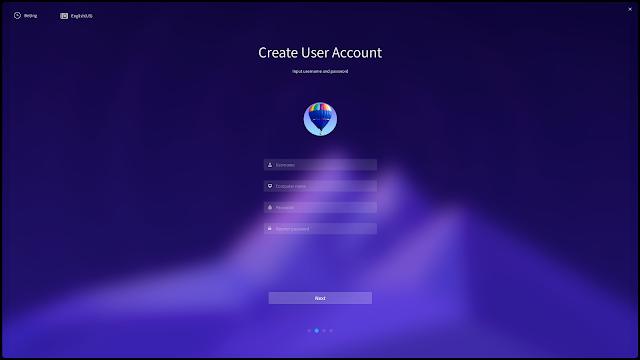 Buat akun dan password di Deepin
