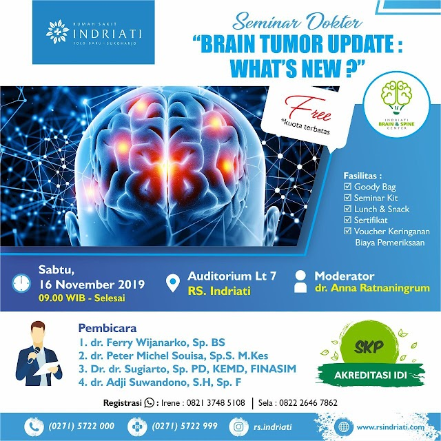 Free SKP IDI: Free Seminar Brain Tumor Update  16 November 2019