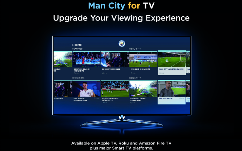 Man City for TV: la plataforma OTT de Manchester City