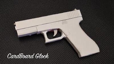 cardboard pistol