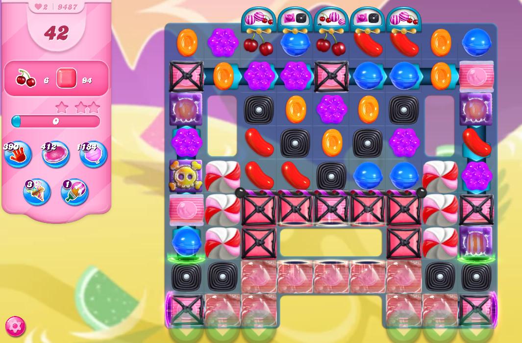 Candy Crush Saga level 9487
