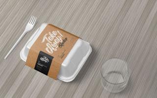 Template mockup kemasan makanan psd gratis