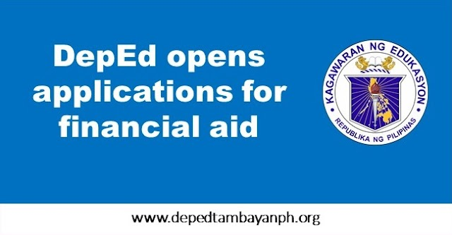 DepEd opens applications for financial aid