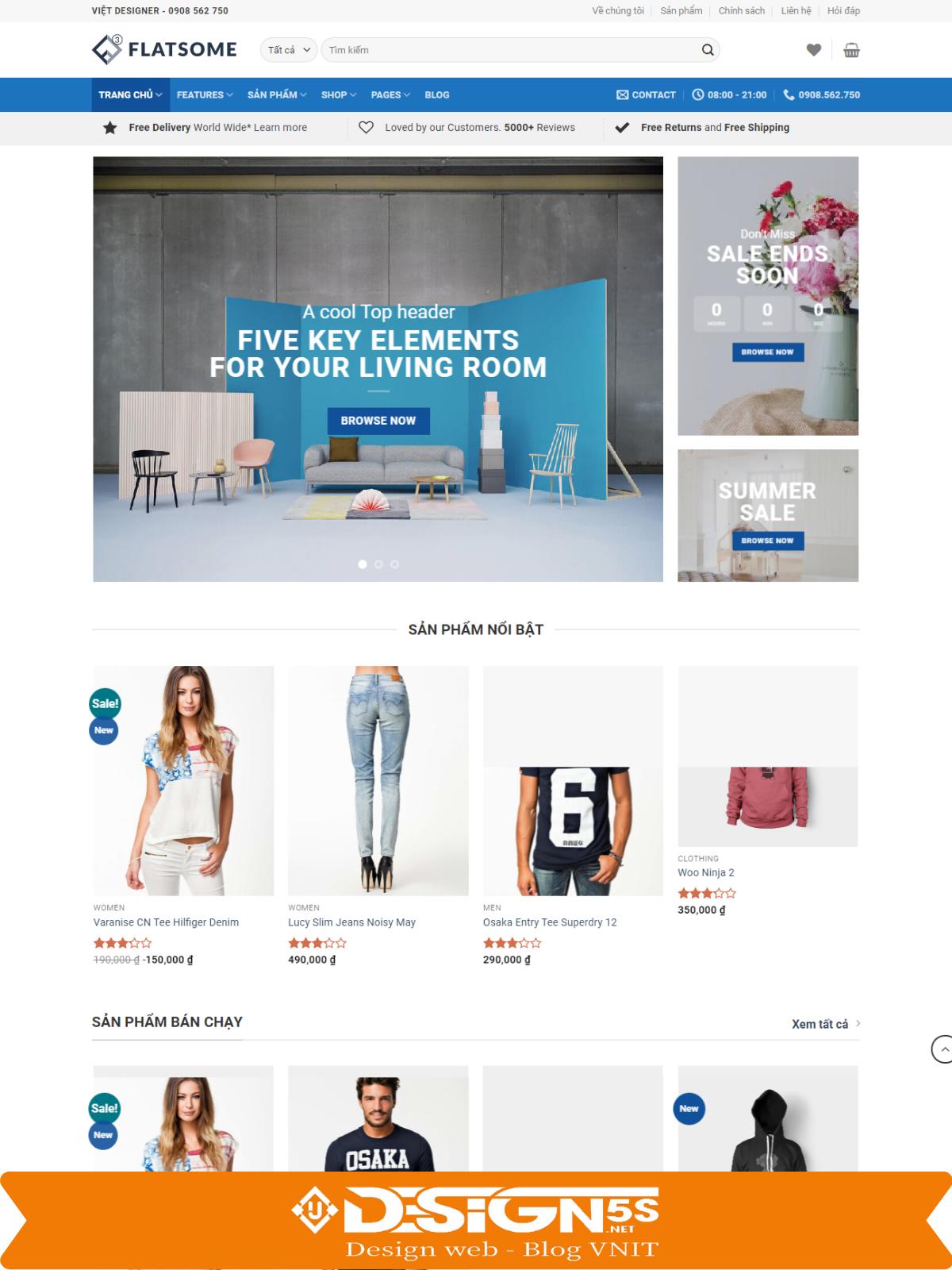 Mẫu Website bán hàng Flatsome Mega Shop