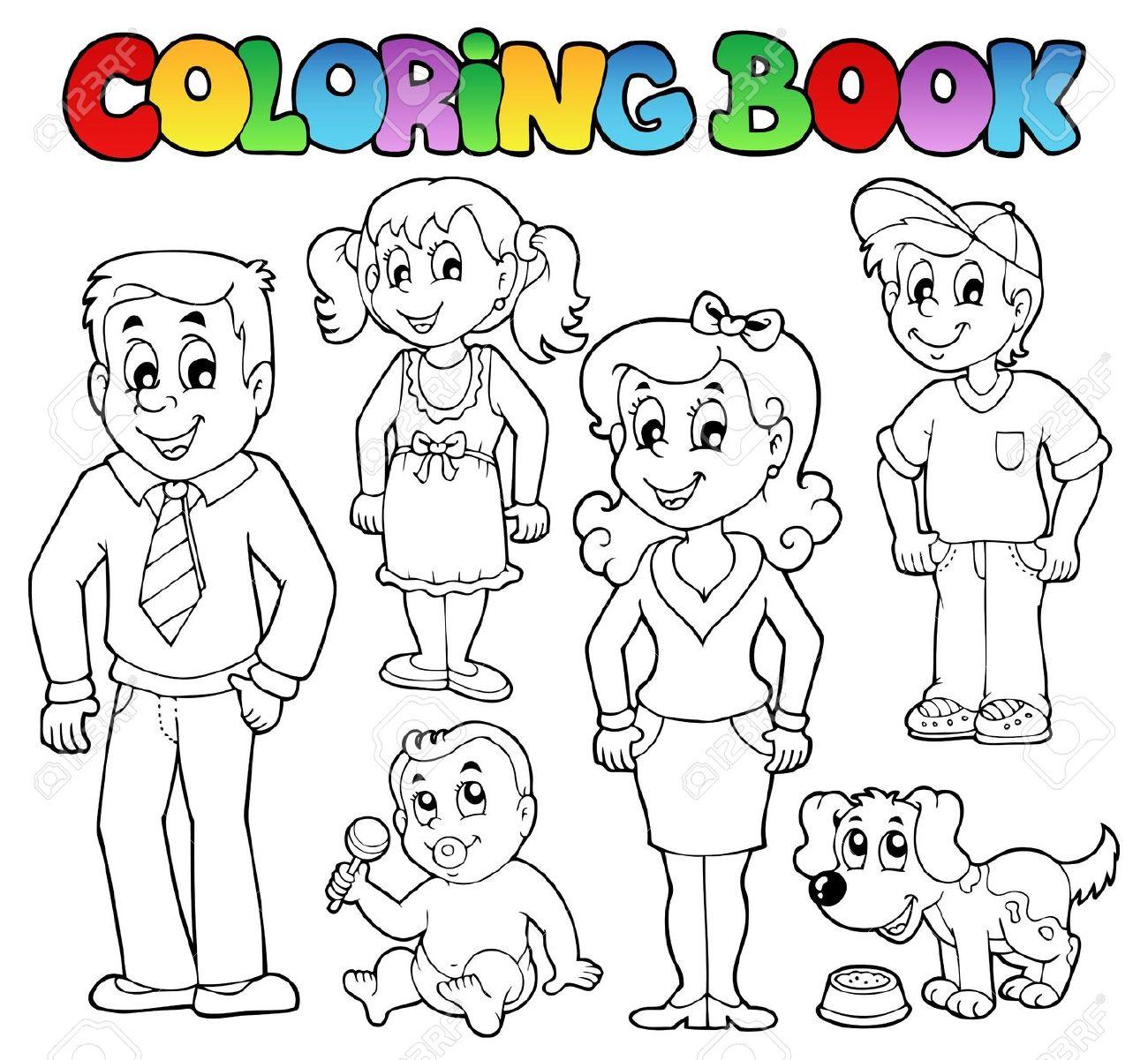 My Family Colorear La Familia