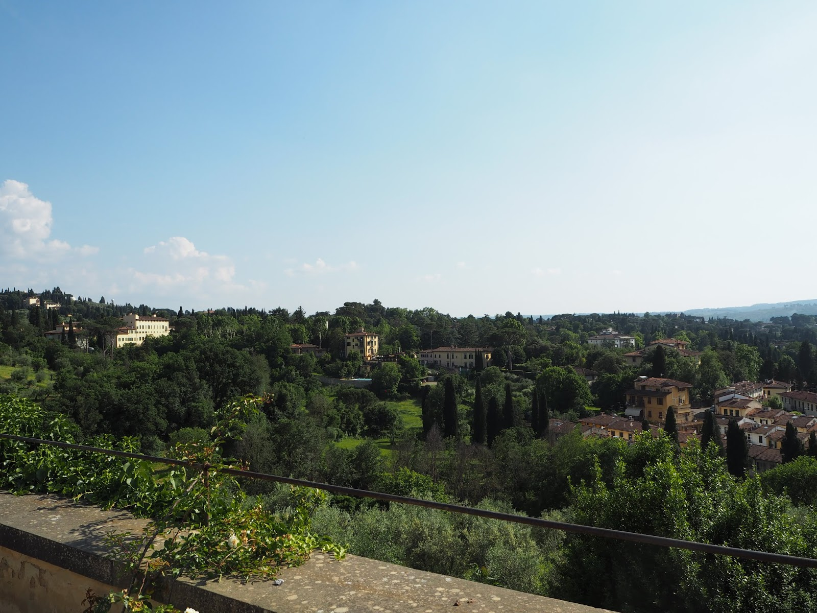 florentine villas in the surrounding hills of florence