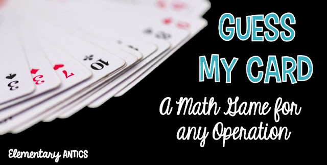 Guess My Card is an easy to set up math game that kids can play to practice any operation: addition, subtraction, multiplication or division!