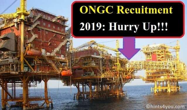 ONGC Recruitment 2019: