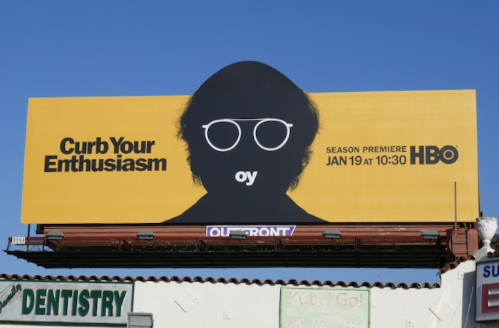 Curb Your Enthusiasm season 10 Oy extension billboard