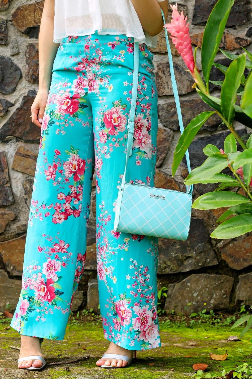 Cute Summer outfit with floral pants