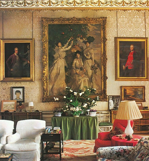 Chatsworth 3 Piece Traditional White Suite: Odbicia: Portret Z Błękitnego Salonu