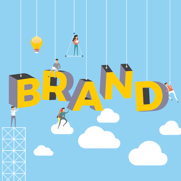 illustration of people building a brand strategy