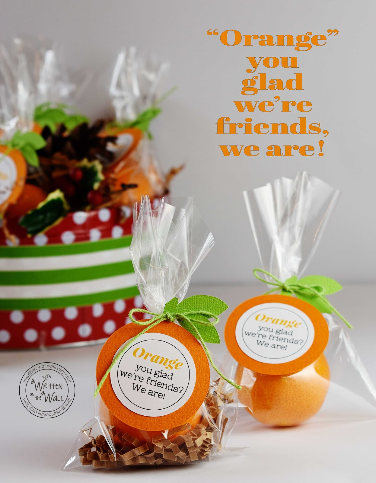 Oranges for Christmas-Neighbor, Family and Friends Gifts