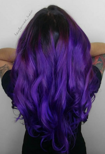 purple hair dye for dark hair 2020