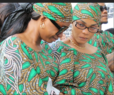 Photos From The Sad Moments Of The Wake Keep Of Iyabo Ojo's Late Mum