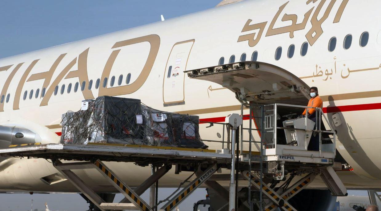 الإمارات ترسل طائرة ن المواد الغذائية إلى قيرغيزستان
