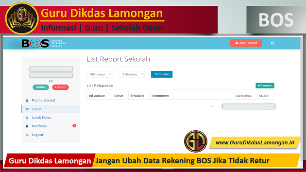 Jangan Ubah Data Rekening BOS Jika Tidak Retur
