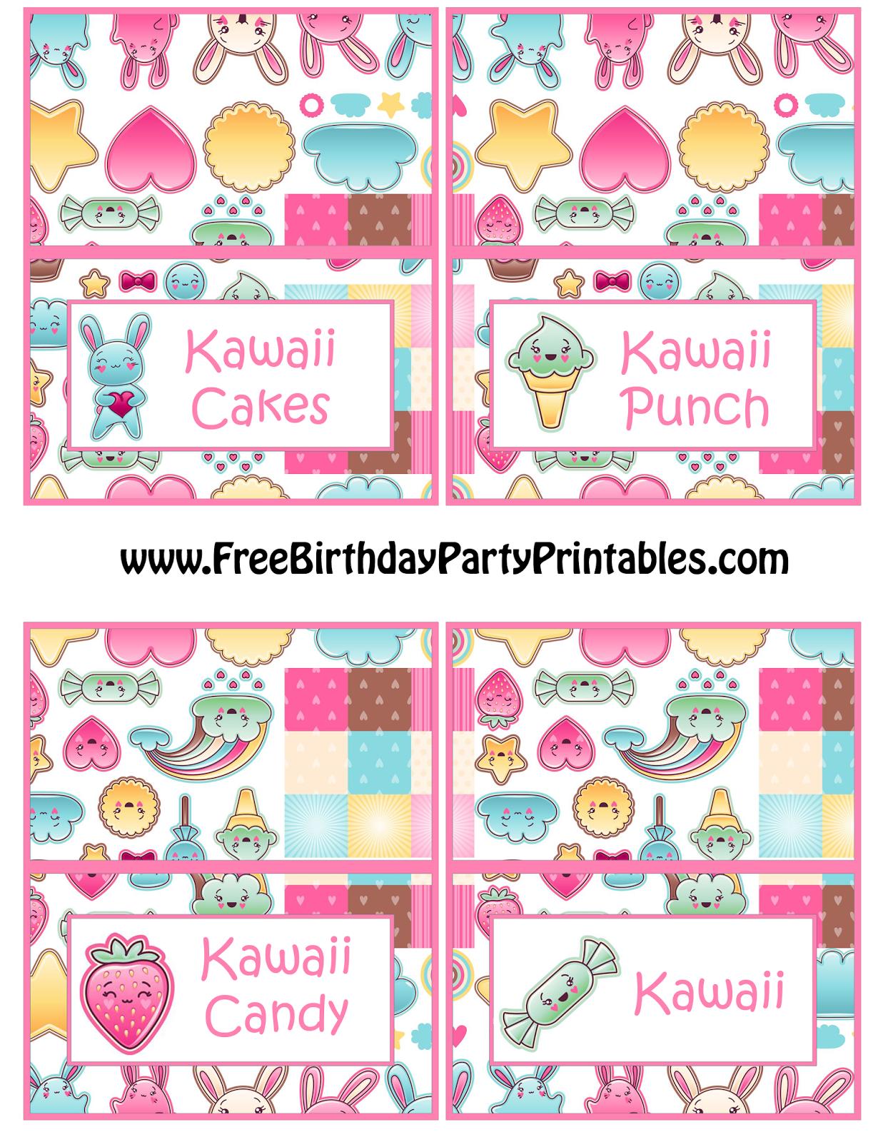 Diy Birthday Blog Free Kawaii Birthday Party Printables