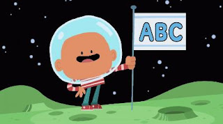 a child sings ABC Space Song with aliens. Sesame Street Alphabet Songs