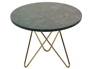 Mesa actual de acero y marmol