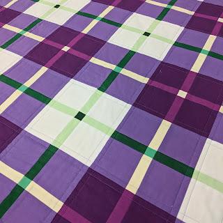 Modern Scot tartan patchwork quilt