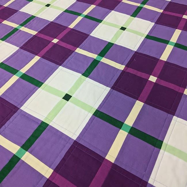 Modern Scot patchwork quilt