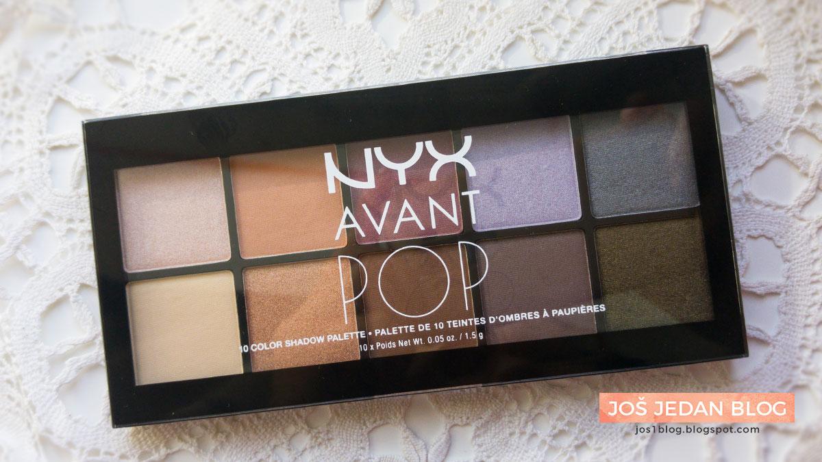 NYX Avant Pop Nouveau Chic paleta recenzija utisci review