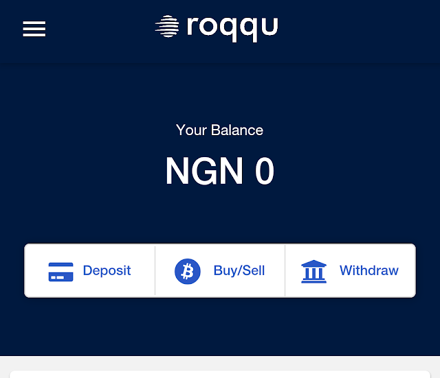 How to buy Trons (TRX) in Nigeria using Roqqu